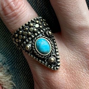 Vanessa Mooney x FP Silver & Turquoise Ring